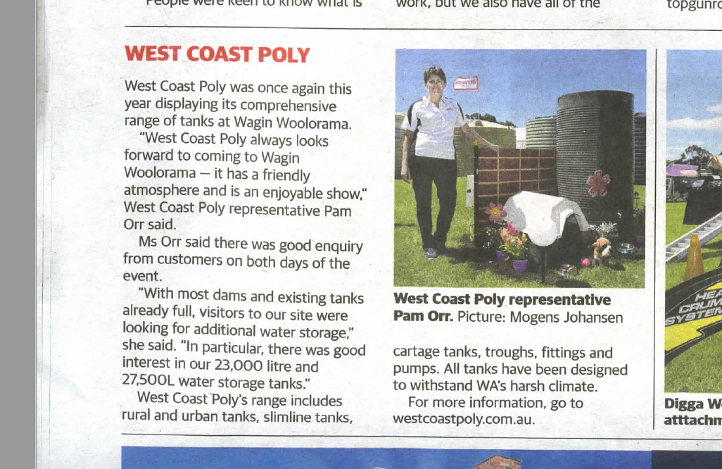 , West Coast Poly Visits Wagin Woolorama