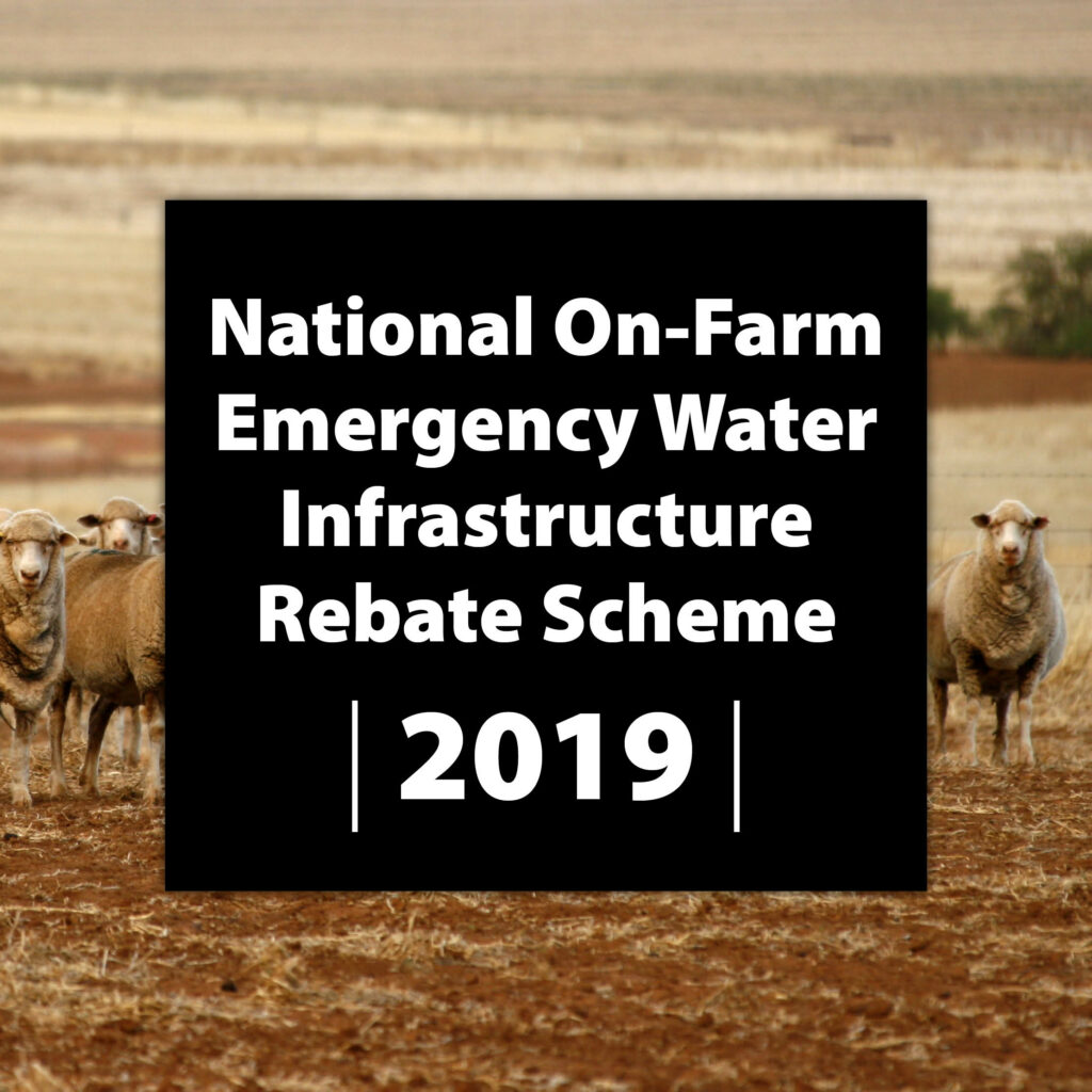The National On-Farm Emergency Water Infrastructure Rebate Scheme